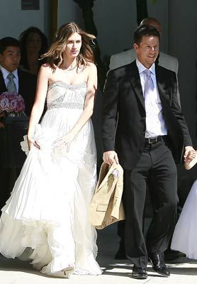 Rhea Durham And Mark Wahlberg Celebrity Wedding Photos