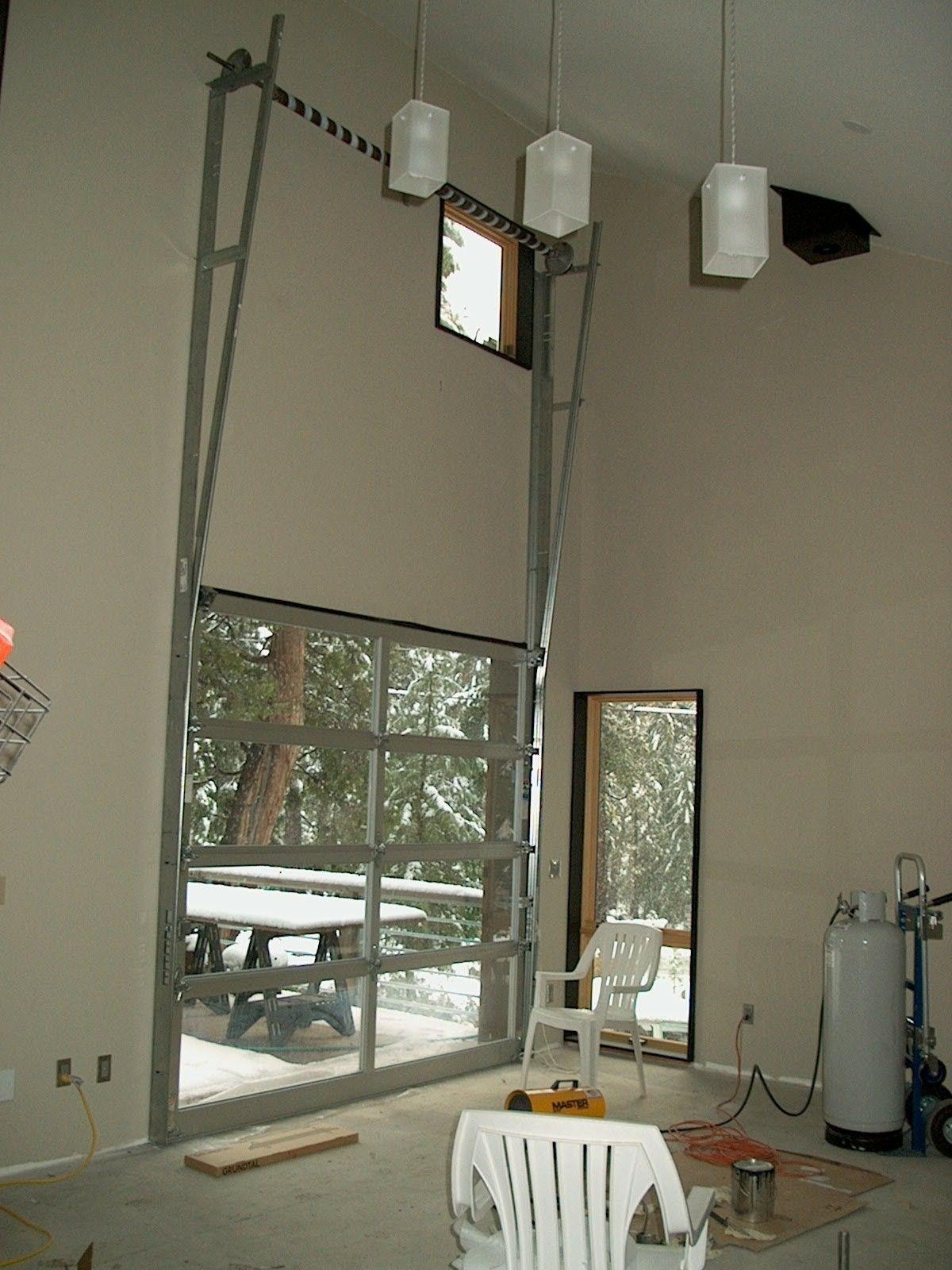 Vertical Lift Garage Door For Living