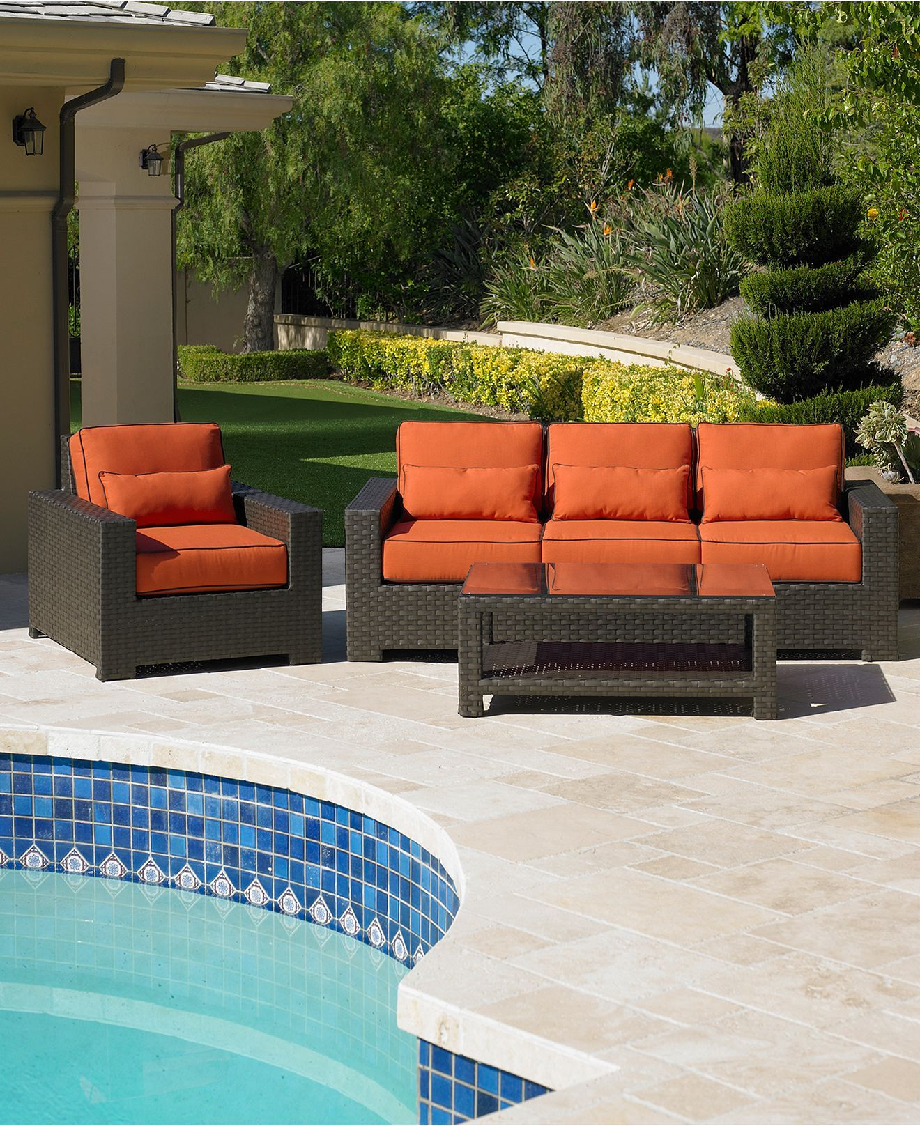 San Lucia Outdoor Patio Furniture Seating Sets & Pieces need to