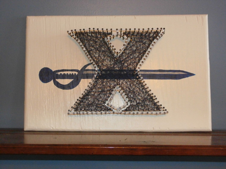 Xavier color printing - Xavier University Musketeers Cincinnati Xu Nail String Art
