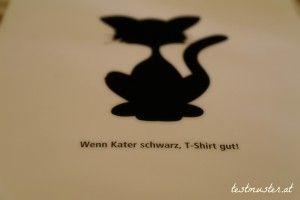 Wenn Kater schwarz, T-shirt gut ! –  Kater Likoli
