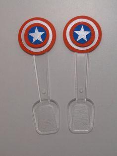 Decoração de festa tema Capitão América...Captain America Birthday Party Ideas