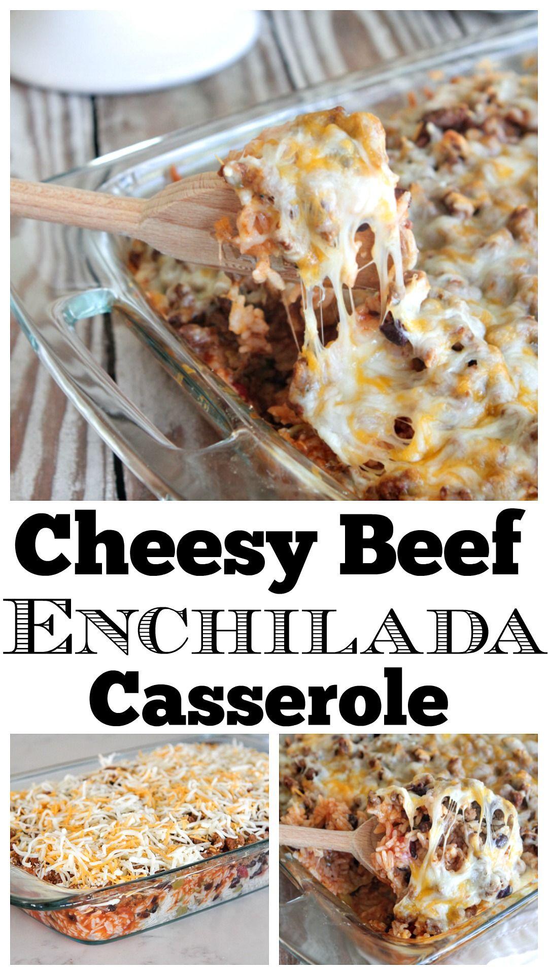 Cheesy Beef Enchilada Casserole Recipe Enchilada Casserole Beef Enchilada Casserole Beef Enchiladas