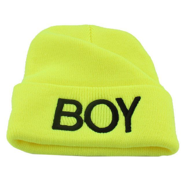 47b6aea37eb Cute Candy Color Cotton Baby Boy Girl Hats Letter Boy Beanie Cap Ski Hats  Knitted Woolen Skull Hats Caps Accessories