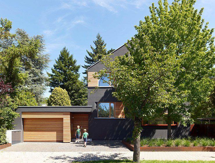 Neue Fassade mit Lärchenholz-Verschalung Garage Pinterest - haus renovierung altgebaude