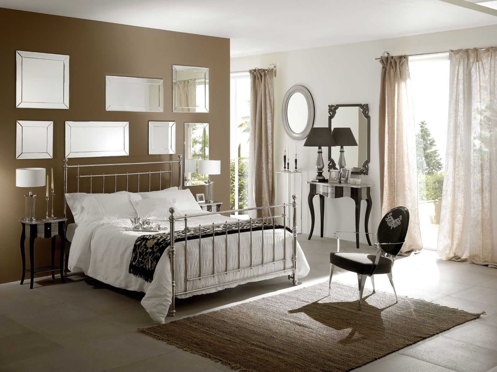 Loft bed with desk and dresser  Romantic Bedroom Design With White Bed And Black Chair Dressers