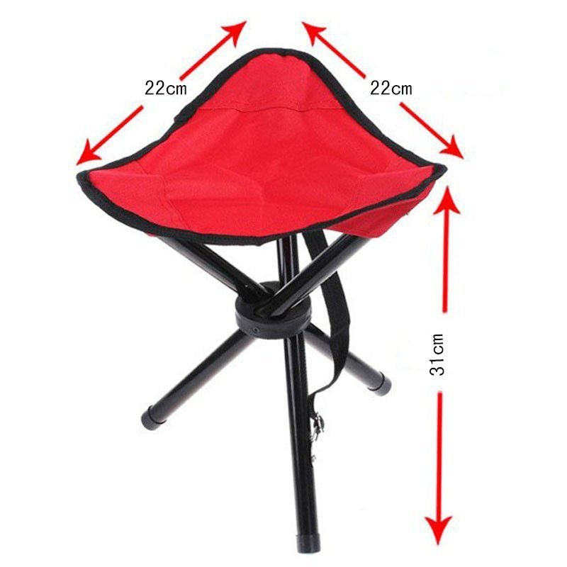 Outdoor Traveling Camping Tripod Folding Stool Chair Foldable