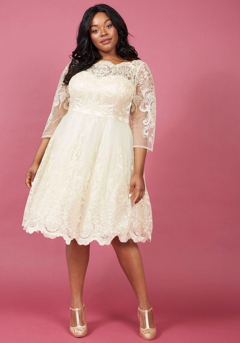 Length lacesleeve wedding dress by chi chi london modest