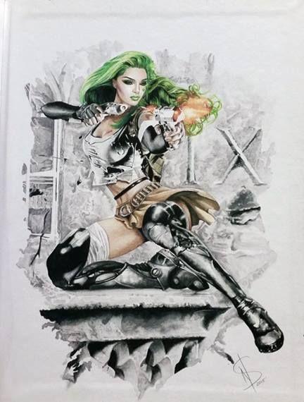 Aphrodite IX Cover by JoeWeems5 | Comic art, Comic drawing