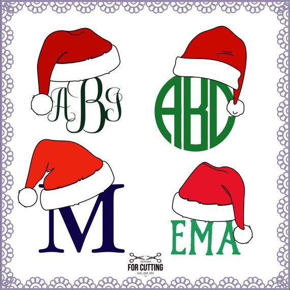 fbb93667ba7f1 Christmas Santa Claus Hats Svg Cut Files