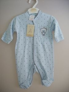 f21ee27cfc76 These are such a lovely little sleepsuit for any boy Comes in a blue spot  style
