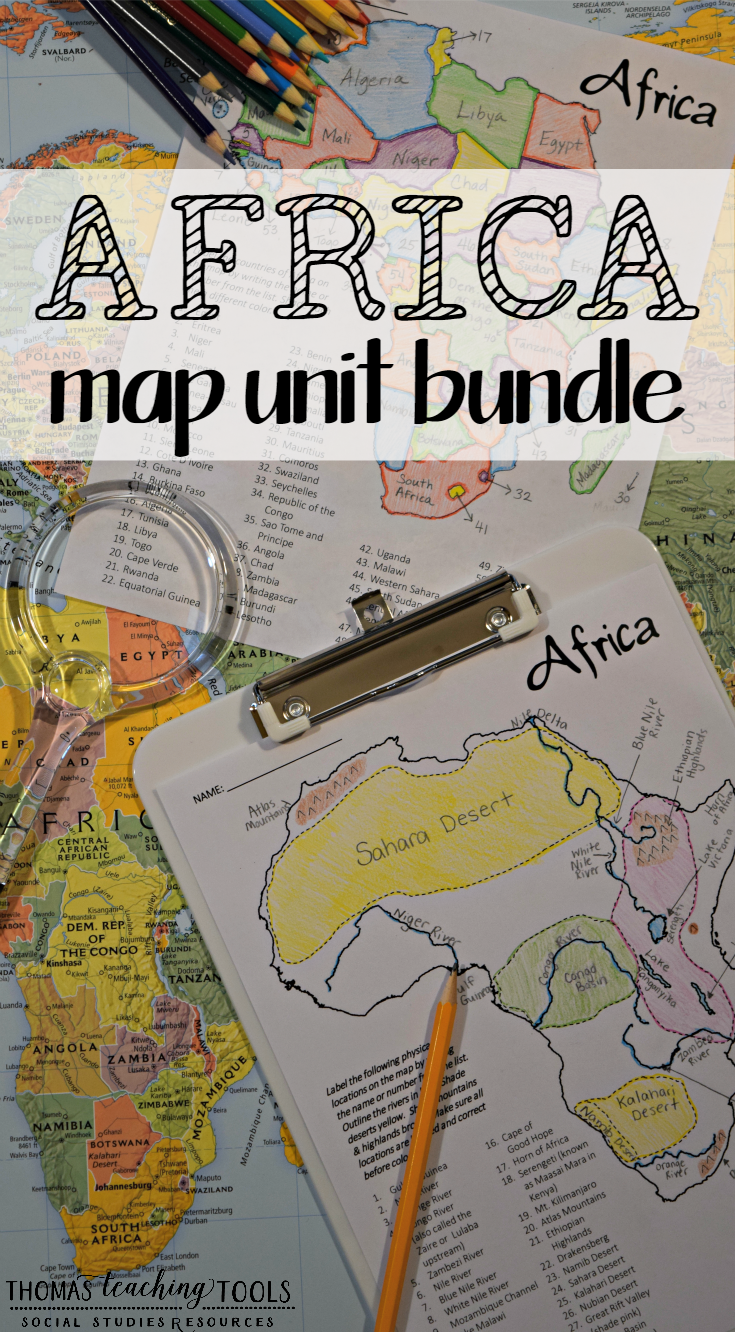 Africa: Map Unit Bundle with Outline Maps, Activities, and ...