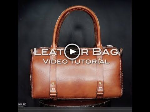 Leather Bag Tutorial - YouTube  77151c966bc78