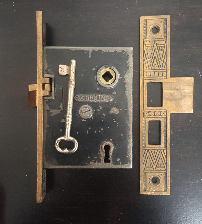 Right Handed Corbin Mortise Lock 530869 By Charlestonhardwareco On Etsy Mortise Lock Door Locks Door Handles