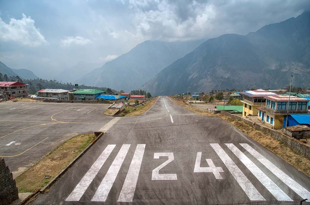 Landing on Lukla Airport, the most dangerous airport in the world.
