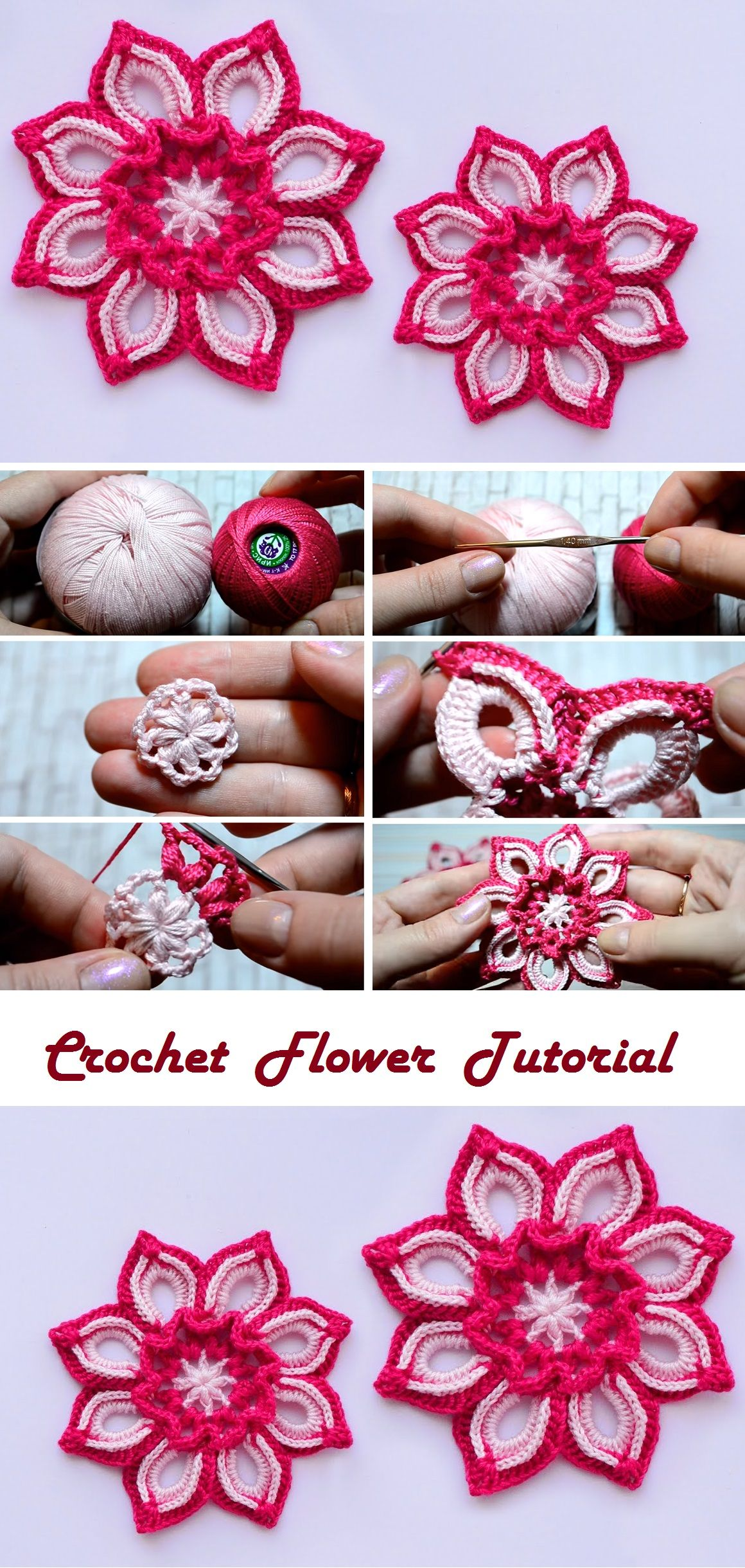 Beautiful Flower – Let\'s Learn How to Crochet One | Flores ...