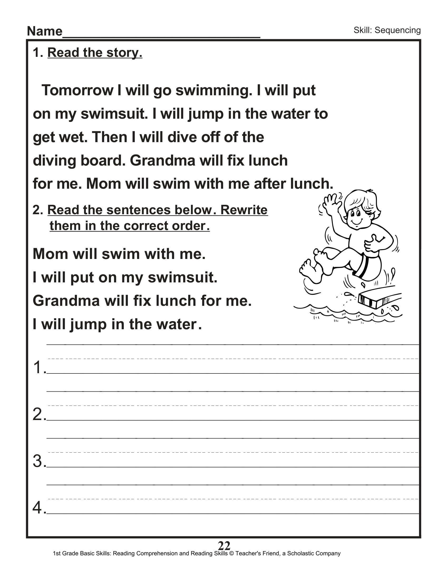 Sequencing Worksheet 2nd Grade Sentence Editing Worksheet