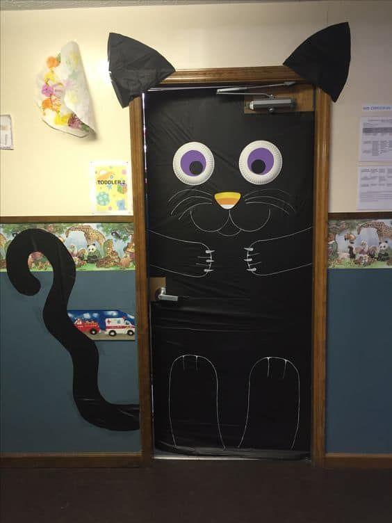 Halloween Door Decorations   Easy Halloween Decor Ideas #halloweendoordecorations
