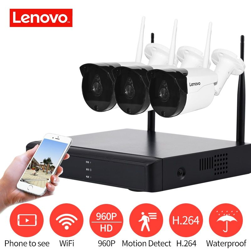 Lenovo Wireless Monitoring Surveillance System 960p Hd 1 3mp Night Vision Hdmi Wireless Security Camera System Wireless Security Cameras Security Camera System