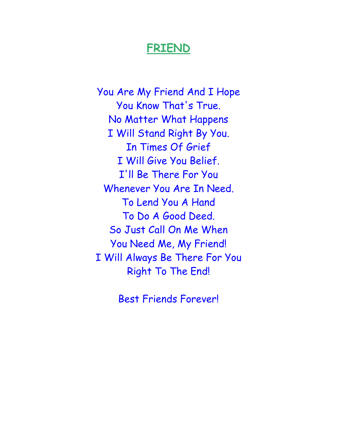 Image result for rhyming poems about friends   Rhyming