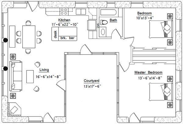 U Shaped House Plans With Courtyard u shaped house plans courtyard pool | house plans | pinterest