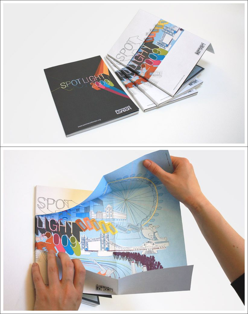 lovely fold out brochure cover design