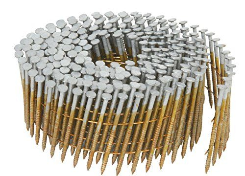 Hitachi 13362 1 1 2 Inch X 0 092 Inch Full Round Head Ring Shank Hot Dipped Galvanized Wire Coil Siding Nails 3600 Pack Framing Nails Head Ring Hitachi