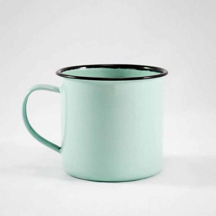 Seafoam Enamel Mug