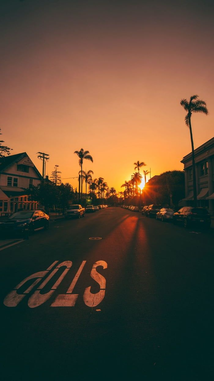 pink aesthetic sunsets sun sunrise sunset set tumblr aesthetic sky cloud clouds beautiful colorful purple orange red yelow nature trees natural ocean skylovers road street streetview summer sea beach palm trees