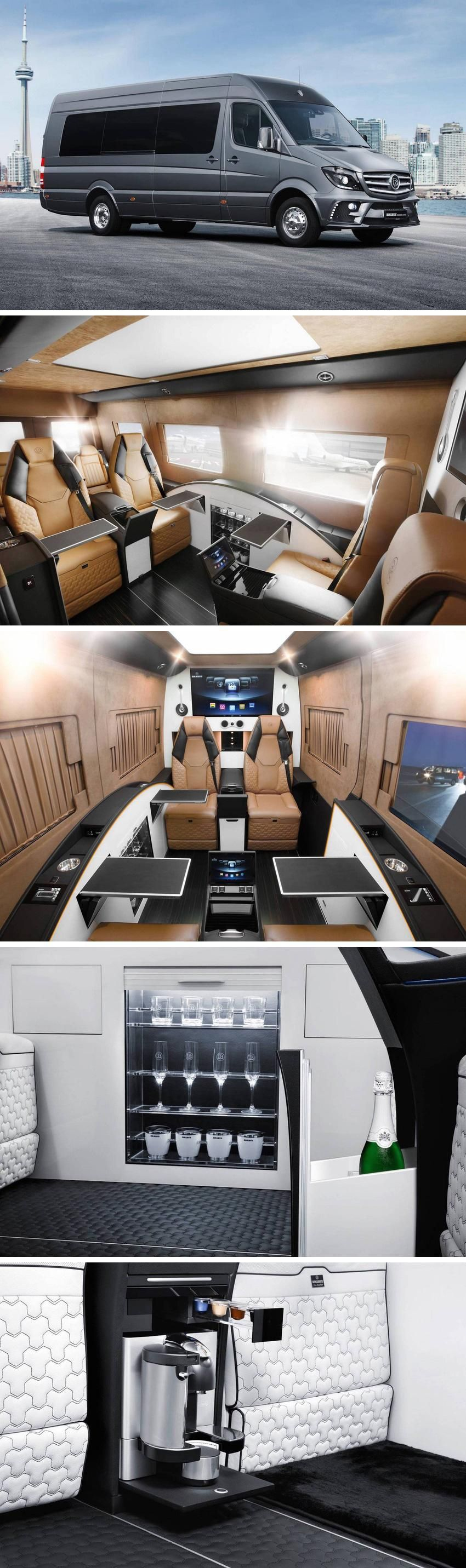 Brabusu business lounge sprinter van is nicer than your apartment