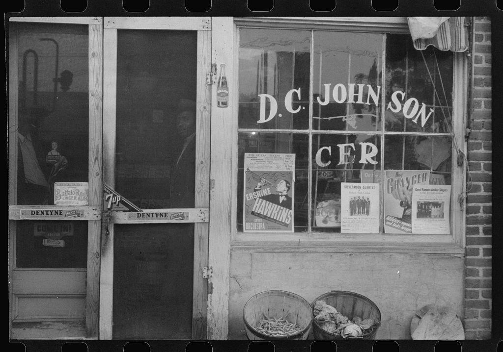 Grocery store front roxboro nc 1940 roxboro store