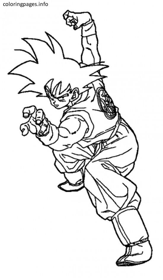 son goku coloring pages | Dylpickle | Pinterest | Son goku, Goku and ...
