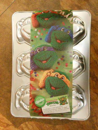 Brilliant Wilton Teenage Mutant Ninja Turtles Mini Cake Pan Ninja Turtles Personalised Birthday Cards Petedlily Jamesorg