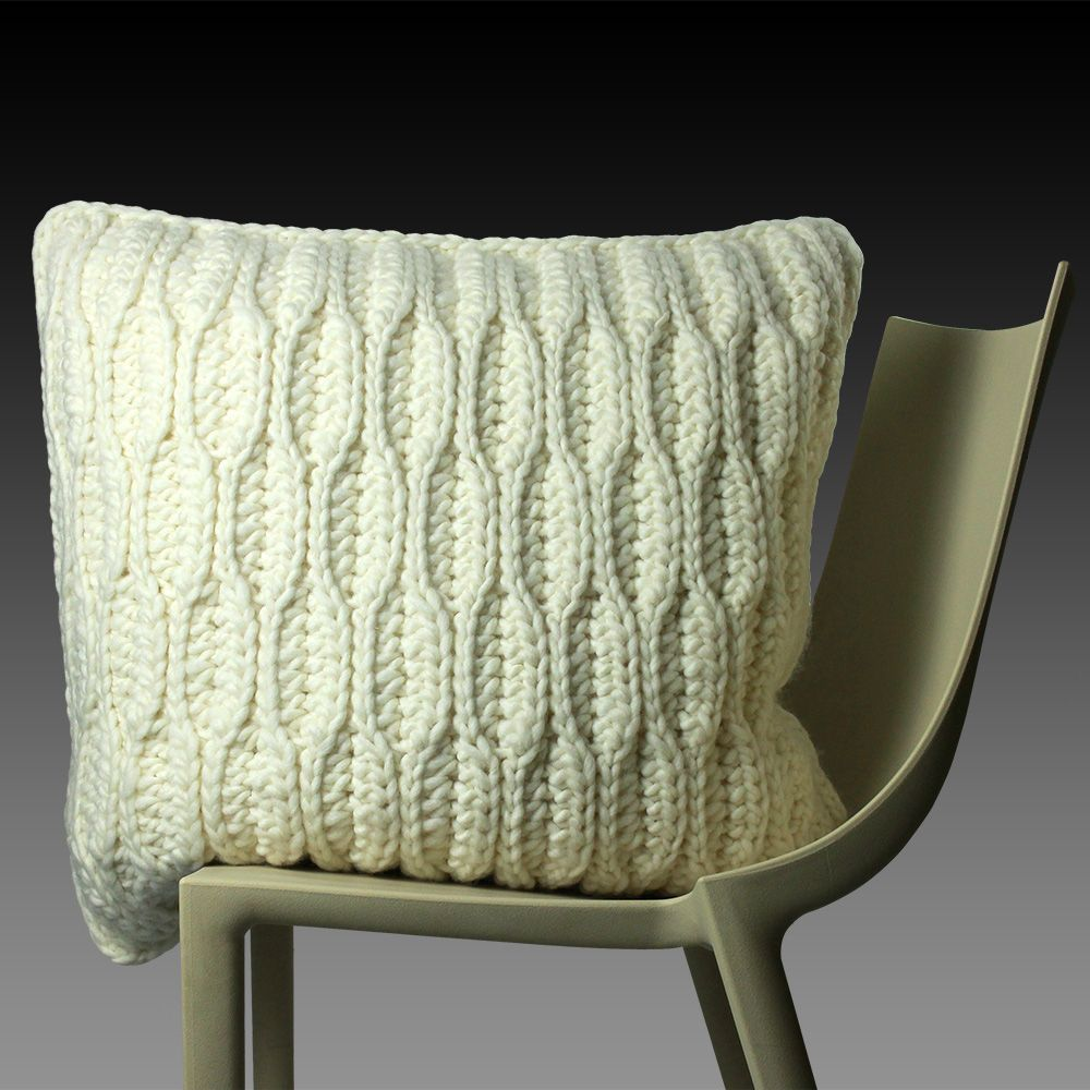 Honeycomb hand crochet cushion knitted cushions pinterest