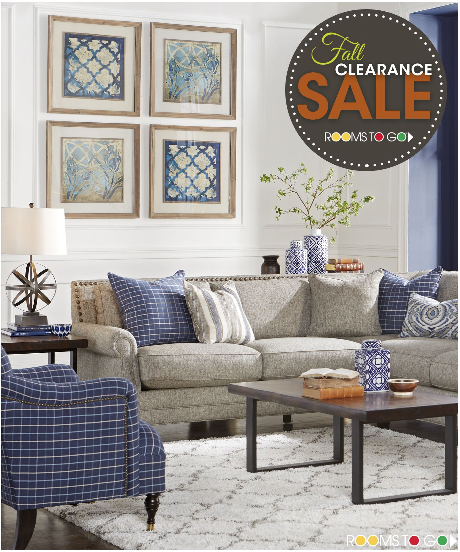 Visit Rooms To Go Now During Our Fall Clearance Sales