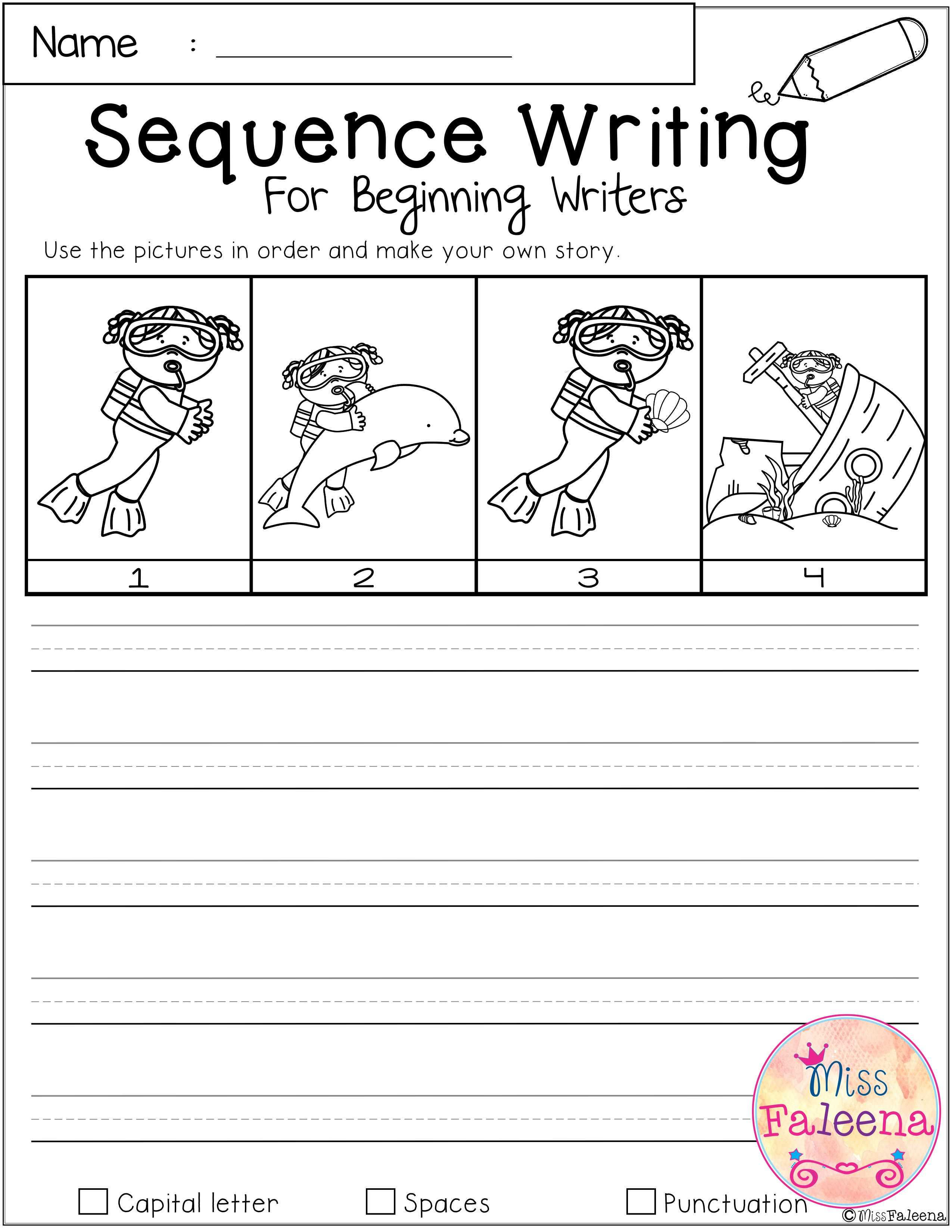 August Sequence Writing For Beginning Writers With Images