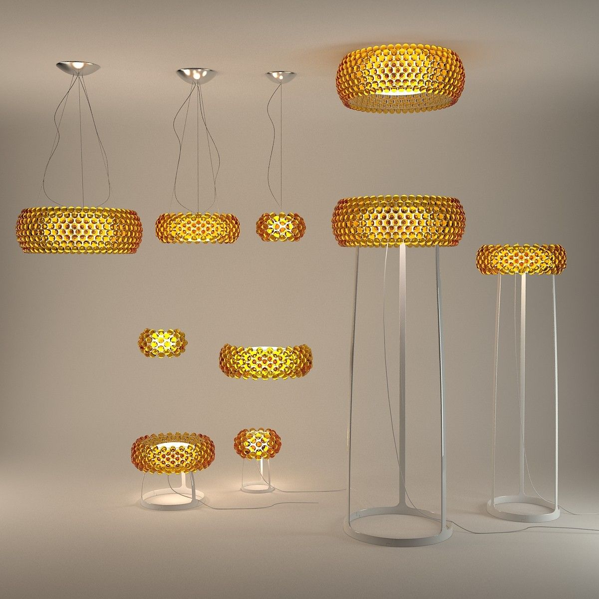 Lampe Caboche Patricia Urquiola caboche chandelier http://www.modernlamps/caboche