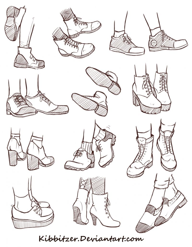Shoes Reference Sheet 2 Kibbitzer On Patreon Art Reference Poses Sketches Drawing Tutorial