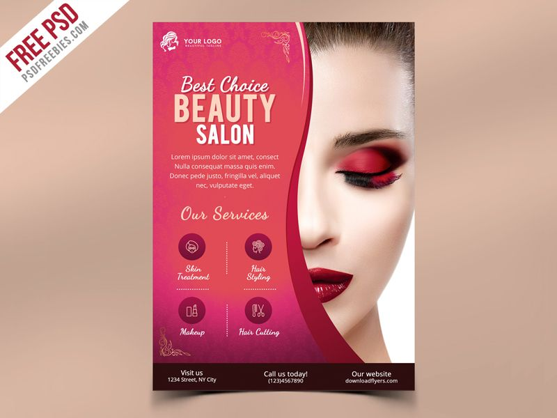 Beauty Salon Flyer Template Psd Pinterest Free Flyer Templates