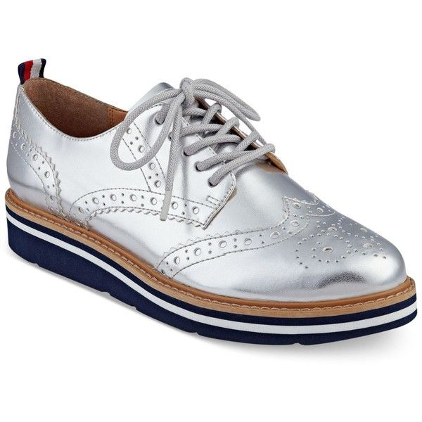 Tommy Hilfiger Women's Kabriele Lace-Up Oxfords ($89) ❤ liked on Polyvore  featuring