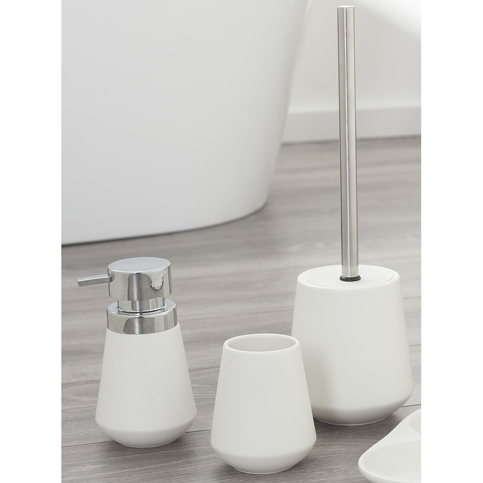Sealskin 3 Piece Bathroom Accessories Set Conical Chrome White