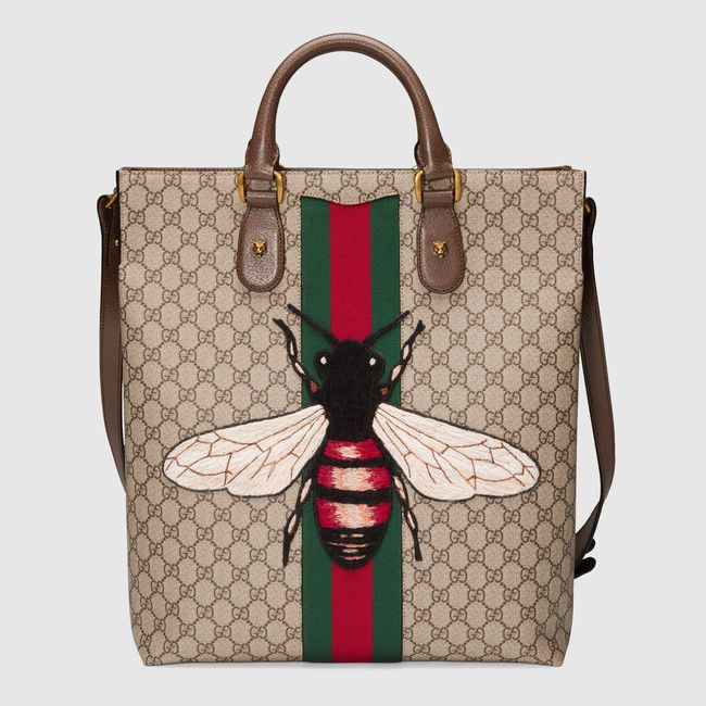 Web Animalier GG Supreme tote with bee - Gucci Men s Totes 437549K2LWT8967 c8fac22ad95af