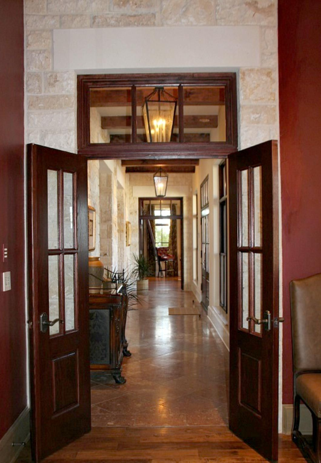 Small Custom Homes Texas Ranch Style Homes Custom Ranch Homes Design Interior Designs: Gallery Looking From Dining Into Living Room Features A Transom