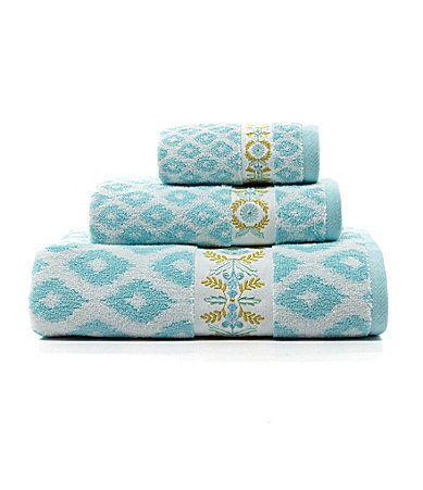Dena Home Diamond Ikat Bath Towels Dillards Turquoise