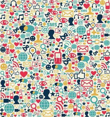 Social media network icons pattern | for real | Pinterest ...