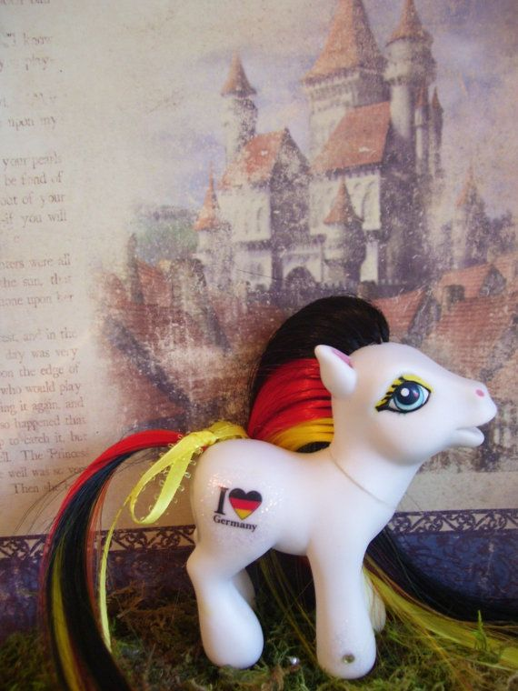 Custom My Little Pony  I Love Germany by Wendypony on Etsy, $15.00