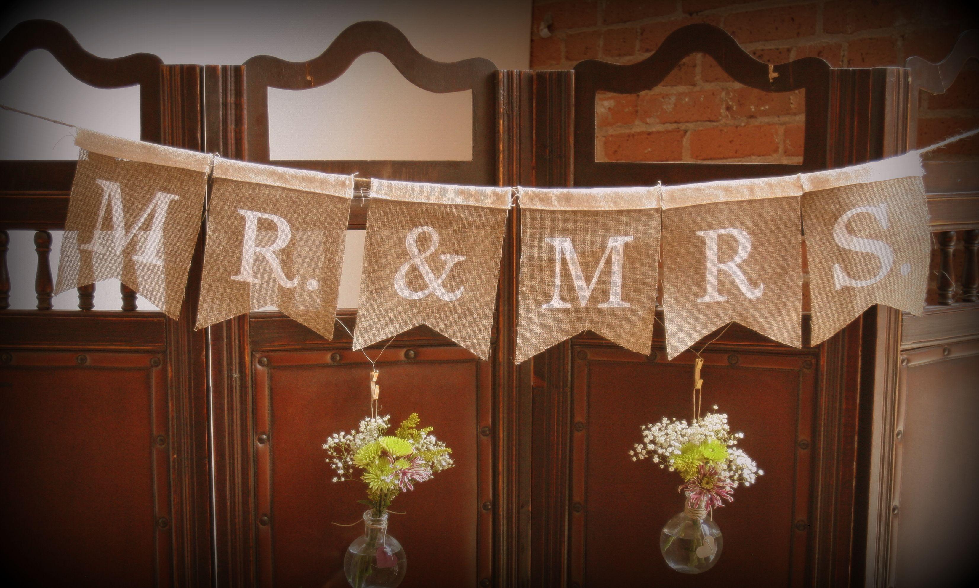 Mr.  Mrs + flowers