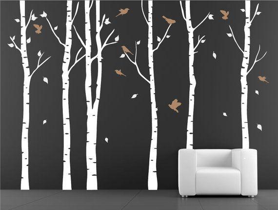 Wall Stencil Tree With Birds By Decoryourwall 96 00