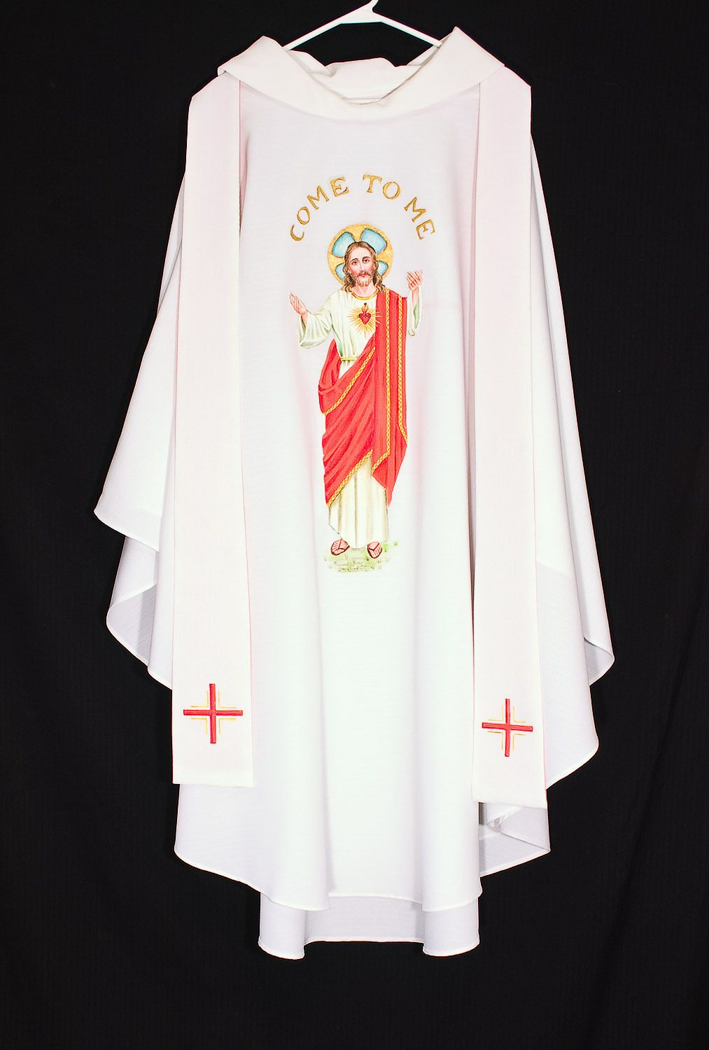Arte Di Mano Ebay White Chasuble Stole Jesus Sacred Heart Catholic Priest Vestments