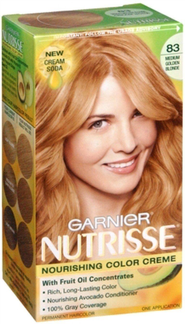 Garnier Nutrisse Haircolor - 83 Cream Soda (Medium Golden ...